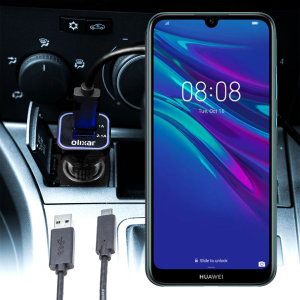 Keep your Huawei Y6 Pro 2019 fully charged on the road with this compatible Olixar high power dual USB 3.1A Car Charger with an included high quality USB to Micro-USB charging cable.