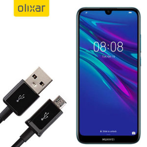 This 1 meter data / charging cable from Olixar allows you to connect your Huawei Y6 Pro 2019 to a PC via Micro USB. It supports charging currents over 2 amps, so your Huawei Y6 Pro 2019 can be up and running from flat in no time.