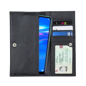 Fabricada con piel auténtica de alta calidad, con un acabado perfecto, esta funda-cartera de Olixar le dará un toque elegante a su Huawei Y7 Pro 2019 y le permitirá llevar documentos, dinero en efectivo, y más.
