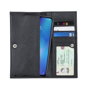 Fabricada con piel auténtica de alta calidad, con un acabado perfecto, esta funda-cartera de Olixar le dará un toque elegante a su Xiaomi Mi 9 y le permitirá llevar documentos, dinero en efectivo, y más.