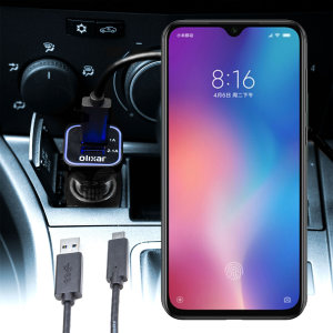 Keep your Xiaomi Mi 9 SE fully charged on the road with this compatible Olixar high power dual USB 3.1A Car Charger with an included high quality USB to USB-C charging cable.