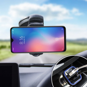 Essential items you need for your smartphone during a car journey all within the Olixar DriveTime In-Car Pack. Featuring a robust one-handed phone car mount and car charger with an additional USB port for your Xiaomi Mi 9 SE