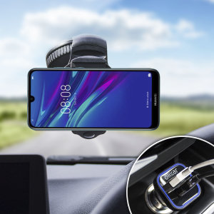 Essential items you need for your smartphone during a car journey all within the Olixar DriveTime In-Car Pack. Featuring a robust one-handed phone car mount and car charger with an additional USB port for your Huawei Y6 Pro 2019.