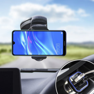 Essential items you need for your smartphone during a car journey all within the Olixar DriveTime In-Car Pack. Featuring a robust one-handed phone car mount and car charger with an additional USB port for your Huawei Y7 Pro 2019.
