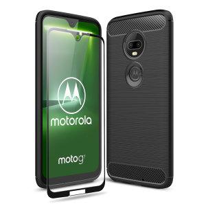 Offrez une protection intégrale à votre Motorola Moto G7 avec la coque Olixar Sentinel en coloris noir et sa protection d'écran en verre trempé. Robuste et élégante, elle vous offre également une excellente prise en main. Dotée d'un design effet métal brossé avec de subtiles touches effet fibre de carbone, elle complémente avec brio le design de votre smartphone tout en lui assurant une protection totale.