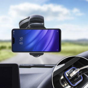 Essential items you need for your smartphone during a car journey all within the Olixar DriveTime In-Car Pack. Featuring a robust one-handed phone car mount and car charger with an additional USB port for your Xiaomi Mi 8 Lite.