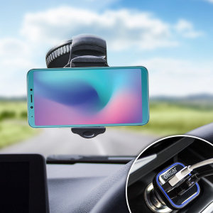 Essential items you need for your smartphone during a car journey all within the Olixar DriveTime In-Car Pack. Featuring a robust one-handed phone car mount and car charger with an additional USB port for your Samsung Galaxy A6s.