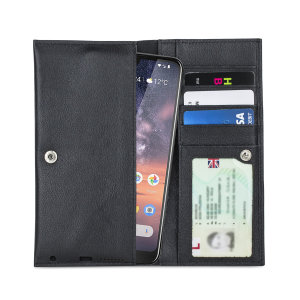 Crafted from premium quality genuine leather, with precision stitching and stud closure, and featuring a luxurious soft lining, document pockets and card slots, the Primo Wallet for the Nokia 3.2 will protect your phone in style.