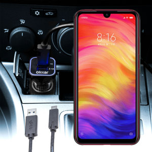 Keep your Xiaomi Redmi Note 7 Pro fully charged on the road with this compatible Olixar high power dual USB 3.1A Car Charger with an included high quality  1m USB to USB-C charging cable.