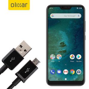 Questo cavo di 1 metro di dati/caricamento Olixar vi permette di collegare il vostro Xiaomi Mi A2 Lite ad un PC tramite Micro USB. Supporta correnti di carica superiori a 2 ampere, in modo che il vostro Xiaomi Mi A2 Lite possa essere installato e funzionante da fermo in poco tempo.