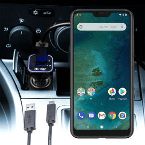 Keep your Xiaomi Mi A2 Lite fully charged on the road with this compatible Olixar high power dual USB 3.1A Car Charger with an included high quality USB to Micro-USB charging cable.