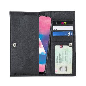Fabricada con piel auténtica de alta calidad, con un acabado perfecto, esta funda-cartera de Olixar le dará un toque elegante a su Samsung Galaxy M30 y le permitirá llevar documentos, dinero en efectivo, y más.