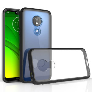 Custom moulded for the Motorola Moto G7 Power, this crystal clear Olixar ExoShield tough case provides a slim fitting, stylish design and reinforced corner protection against shock damage, keeping your device looking great at all times.