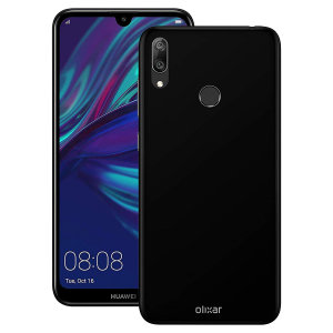 Custom moulded for the Huawei Y7 Prime 2019, this black Olixar FlexiShield case provides slim fitting and durable protection against damage.