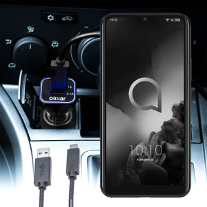 Keep your Alcatel 3L fully charged on the road with this compatible Olixar high power dual USB 3.1A Car Charger with an included high quality USB to Micro-USB charging cable.