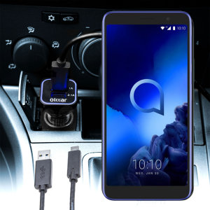 Keep your Alcatel 1x 2019 fully charged on the road with this compatible Olixar high power dual USB 3.1A Car Charger with an included high quality USB to Micro-USB charging cable.