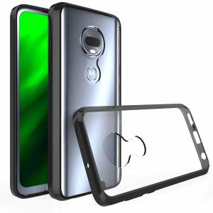 Custom moulded for the Motorola Moto G7, this crystal clear / black Olixar ExoShield tough case provides a slim fitting, stylish design and reinforced corner protection against shock damage, keeping your device looking great at all times.
