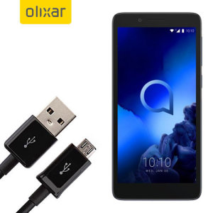 This 1 meter data / charging cable from Olixar allows you to connect your Alcatel 1c 2019 to a PC via Micro USB. It supports charging currents over 2 amps, so your Alcatel 1c 2019 can be up and running from flat in no time.