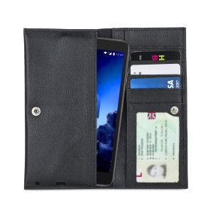 Olixar Primo Genuine Leather Alcatel 1c 2019 Wallet Case - Black