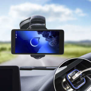 Essential items you need for your smartphone during a car journey all within the Olixar DriveTime In-Car Pack. Featuring a robust one-handed phone car mount and car charger with an additional USB port for your Alcatel 1c 2019.