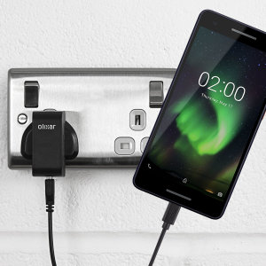 Charge your Nokia 2 V quickly and conveniently with this compatible 2.5A high power charging kit. Featuring mains adapter and USB cable.