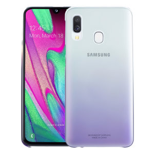 Protect your Samsung Galaxy A40 with this Official Gradation case in Violet. Stylish and protective, this case is the perfect accessory for your Galaxy A40.