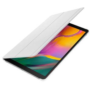 Protégez et préserver votre Samsung Galaxy Tab A 10.1 2019 à l'abri des dommages à l'aide de la housse officielle Book Cover en coloris blanc, dotée d'un astucieux support de visionnage réglable.