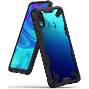 Keep your Huawei P Smart 2019 protected from bumps and drops with the Rearth Ringke Fusion X tough case in black. Featuring a 2-part, Polycarbonate design, this case lives up to military drop test standards so you can rest assured that your device is safe