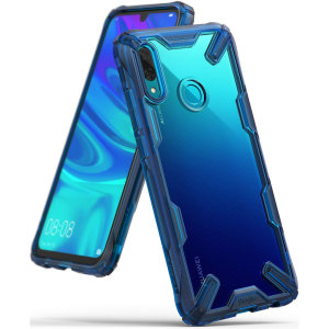 Keep your Huawei P Smart 2019 protected from bumps and drops with the Rearth Ringke Fusion X tough case in blue. Featuring a 2-part, Polycarbonate design, this case lives up to military drop test standards so you can rest assured that your device is safe