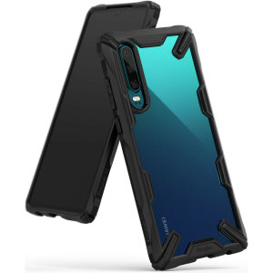 Keep your Huawei P30 protected from bumps and drops with the Rearth Ringke Fusion X tough case in black. Featuring a 2-part, Polycarbonate design, this case lives up to military drop test standards so you can rest assured that your device is safe