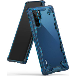 Keep your Huawei P30 Pro protected from bumps and drops with the Rearth Ringke Fusion X tough case in blue. Featuring a 2-part, Polycarbonate design, this case lives up to military drop test standards so you can rest assured that your device is safe
