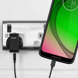 Charge your Motorola Moto G7 Play and any other USB device quickly and conveniently with this compatible 2.5A high power USB-C UK charging kit. Featuring a UK wall adapter and a 1m USB-C cable.