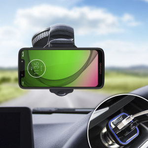 Essential items you need for your smartphone during a car journey all within the Olixar DriveTime In-Car Pack. Featuring a robust one-handed phone car mount and car charger with an additional USB port for your Motorola Moto G7 Play.