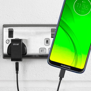 Charge your Motorola Moto G7 Power and any other USB device quickly and conveniently with this compatible 2.5A high power USB-C UK charging kit. Featuring a UK wall adapter and a 1m USB-C cable.