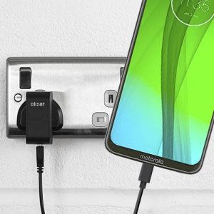 Charge your Motorola Moto G7 Plus and any other USB device quickly and conveniently with this compatible 2.5A high power USB-C UK charging kit. Featuring a UK wall adapter and a 1m USB-C cable.