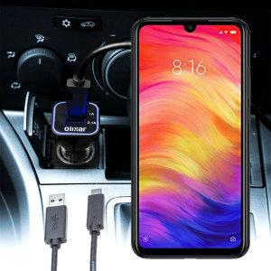 Mantenga su Xiaomi Redmi Note 7 completamente cargado mientras viaja gracias a este cargador de coche Olixar de alta potencia.