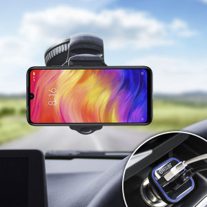 Mantenga seguro su Redmi Note 7 mientras viaja gracias a este pack de coche Olixar DriveTime que incluye un cargador y un soporte de coche.