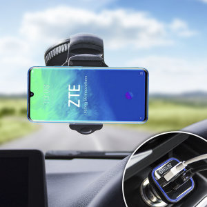 Essential items you need for your smartphone during a car journey all within the Olixar DriveTime In-Car Pack. Featuring a robust one-handed phone car mount and car charger with an additional USB port for your ZTE Axon 10 Pro 5G.