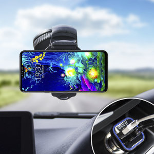 Essential items you need for your smartphone during a car journey all within the Olixar DriveTime In-Car Pack. Featuring a robust one-handed phone car mount and car charger with an additional USB port for your LG V50 ThinQ 5G.