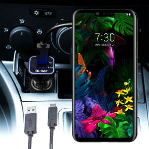 Keep your LG G8s ThinQ fully charged on the road with this compatible Olixar high power dual USB 3.1A Car Charger with an included high quality  1m USB to USB-C charging cable.