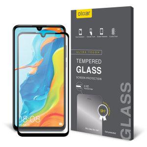 Olixar Huawei P30 Lite Vollschutzglas Displayschutzfolie - Schwarz
