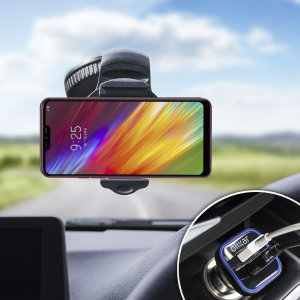 Essential items you need for your smartphone during a car journey all within the Olixar DriveTime In-Car Pack. Featuring a robust one-handed phone car mount and car charger with an additional USB port for your LG Q9.