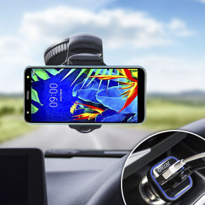 Essential items you need for your smartphone during a car journey all within the Olixar DriveTime In-Car Pack. Featuring a robust one-handed phone car mount and car charger with an additional USB port for your LG K40.