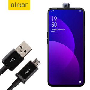This 1 meter data / charging cable from Olixar allows you to connect your Oppo F11 Pro to a PC via Micro USB. It supports charging currents over 2 amps, so your Oppo F11 Pro can be up and running from flat in no time.
