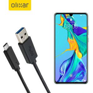 Zorg ervoor dat uw Huawei P30 altijd volledig is opgeladen en gesynchroniseerd met deze compatibele USB 3.1 Type-C Male naar USB 3.0 mannelijke kabel. U kunt deze kabel gebruiken met een USB-wandlader of via uw desktop of laptop.