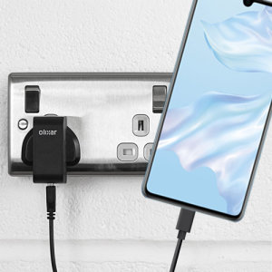 Charge your Huawei P30 and any other USB device quickly and conveniently with this compatible 2.5A high power USB-C UK charging kit. Featuring a UK wall adapter and a 1m USB-C cable.