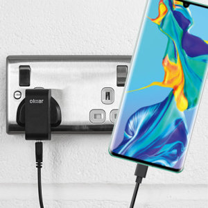 Charge your Huawei P30 Pro and any other USB device quickly and conveniently with this compatible 2.5A high power USB-C UK charging kit. Featuring a UK wall adapter and a 1m USB-C cable.