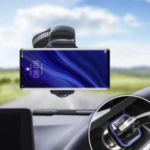 Essential items you need for your smartphone during a car journey all within the Olixar DriveTime In-Car Pack. Featuring a robust one-handed phone car mount and car charger with an additional USB port for your Huawei P30 Pro.