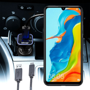 Keep your Huawei P30 Lite fully charged on the road with this compatible Olixar high power dual USB 3.1A Car Charger with an included high quality  1m USB to USB-C charging cable.