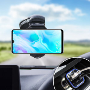 Essential items you need for your smartphone during a car journey all within the Olixar DriveTime In-Car Pack. Featuring a robust one-handed phone car mount and car charger with an additional USB port for your Huawei P30 Lite.